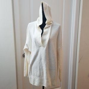 Grey & Lou Cream Hooded Sweater sz XL